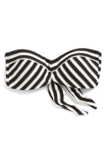 Robin Piccone 'Bianca' Mitered Stripe Bandeau Bikini Top available at #Nordstrom