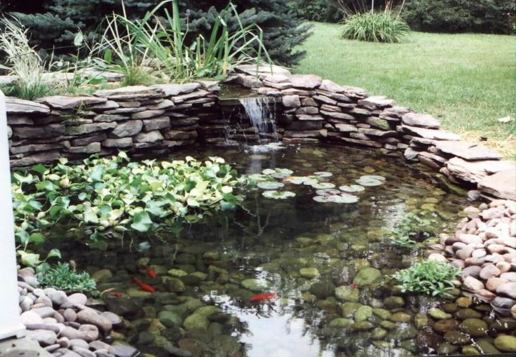 17 best images about outdoor stone work on pinterest for Stone koi pond
