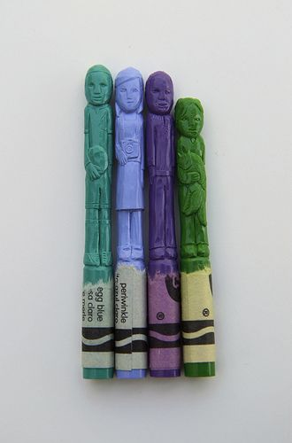 Diem Chau // Crayon Sculptures