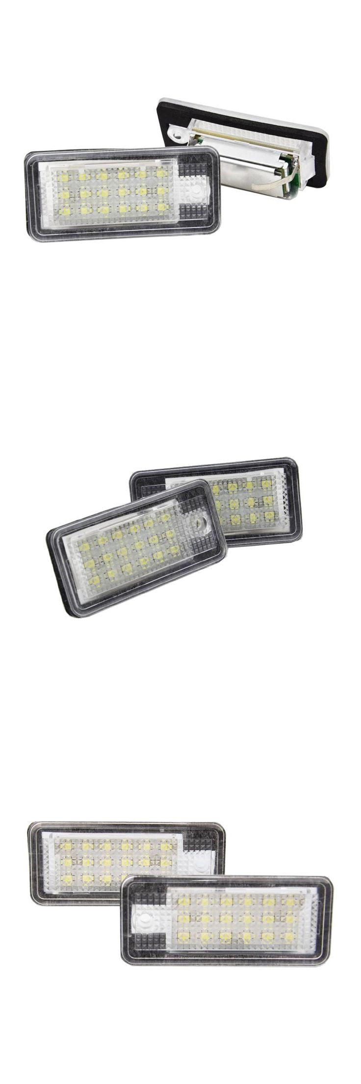 2X high power tail light  smd led number plate lights for AUDI A3 A6 Q7 Car License Plate Light LED Number Lamp 6W 12V 24 LED