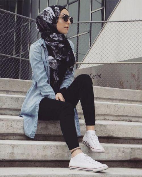 25+ bästa Casual hijab outfit idéerna på Pinterest ...