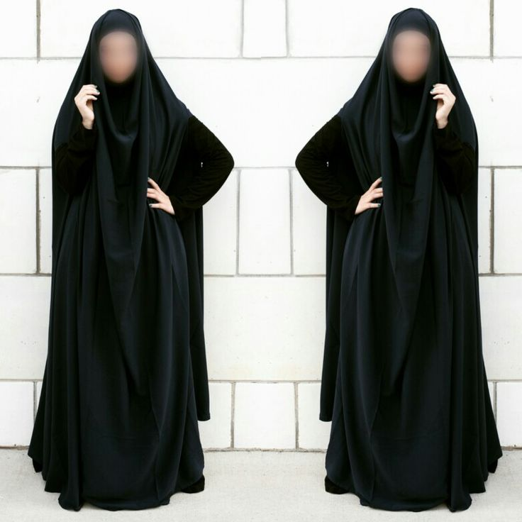 Feet length khimar. Comes in black and navy http://najhymmfashion.com/hijab/khimar/