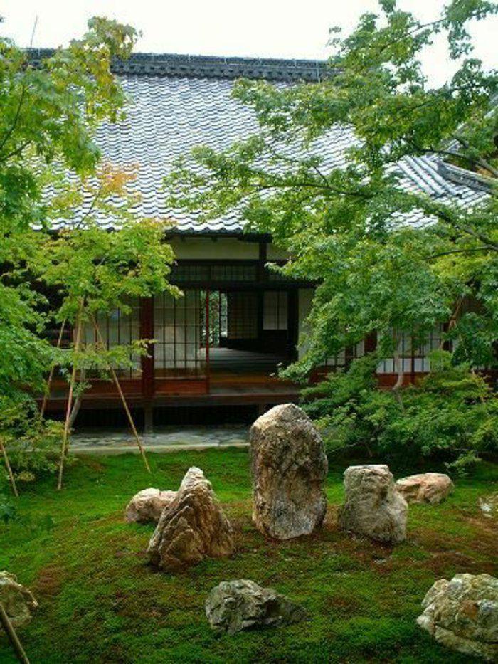 jardin paysager, style japonais