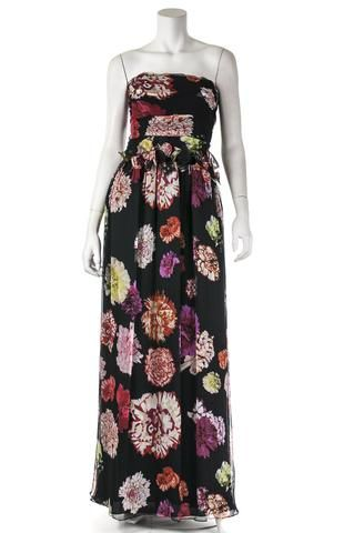 Christian Lacroix chiffon floral print gown   OWN THE COUTURE   Canada's luxury designer consignment online boutique