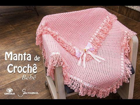Manta de Crochê para bebê - Professora Simone Eleotério - YouTube