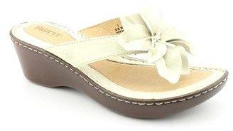 Børn Shimmy Women Open Toe Leather Beige Flip Flop Sandal.