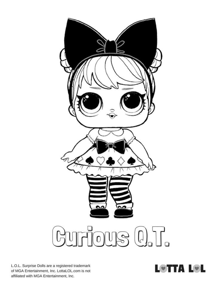 Curious QT Coloring Page Lotta LOL LOL Surprise Series