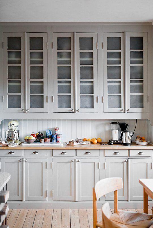 Always Classy: Warm Light Gray Cabinets — Kitchen Inspiration