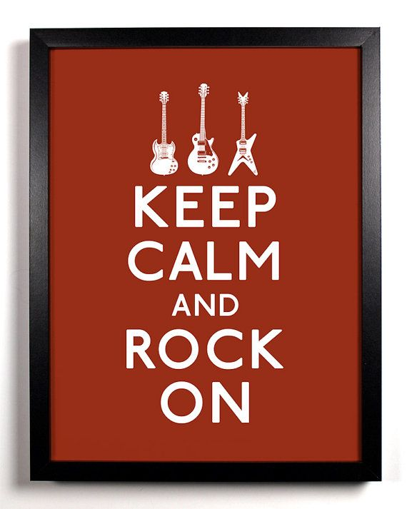 Items similar to Keep Calm and Rock On (Guitars) 8 x 10 Print Buy 2 Get 1 FREE on Etsy