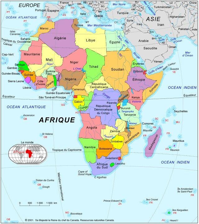 Atlas sur la zone Afrique   E-Voyageur