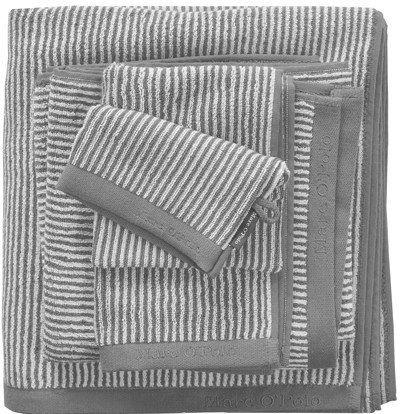 Marc O'Polo Handdoeken Timeless Tone Stripe grey/white