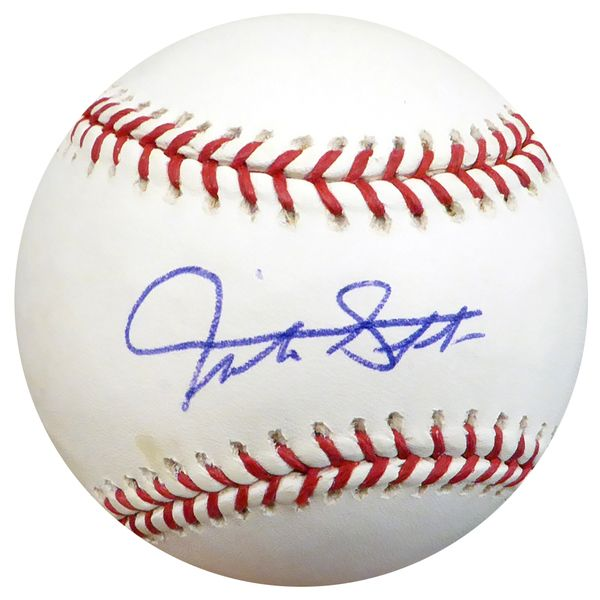 Giancarlo Mike Stanton Autographed Official MLB Baseball Miami Marlins Beckett BAS #C73312