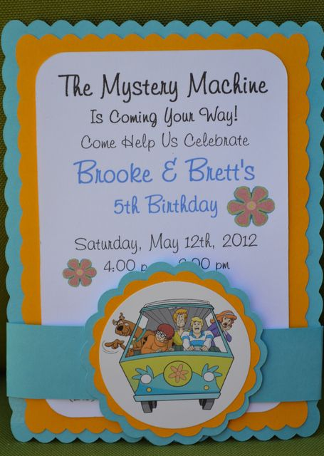 27 best scooby doo party ideas images on pinterest | birthday, Birthday invitations