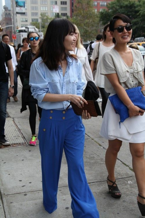 NY street style SS14  Read the cobalt blue story