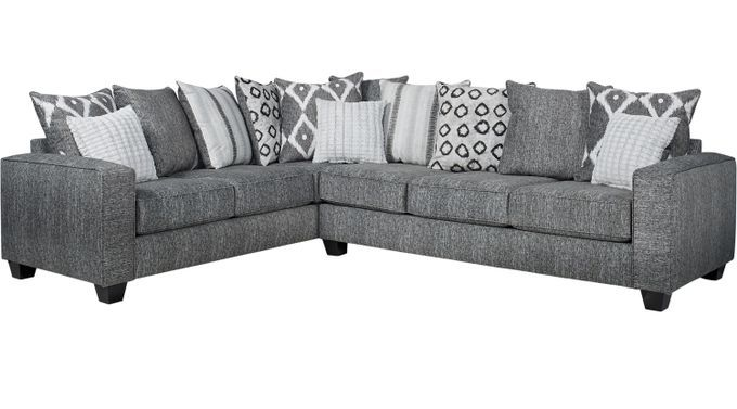 Living Room Sets Rooms To Go Carole Court Gray 2 Pc Sectional 1001464p Grey Furniture Living Room Living Room Sets Grey Furniture