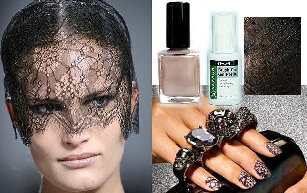 Koronkowe paznokcie - modne inspiracje