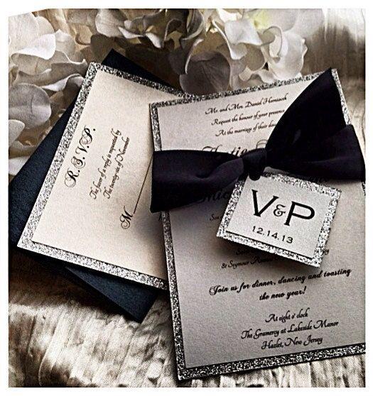 Black Tie Wedding Invitation black tie affair by VPElegance