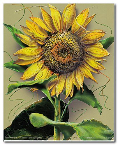 """""""The flower doesn't dream of the bee. It blooms and bee comes"""" Bring home this beautiful sunflowers picture art print poster which will surely enhance your home interior. This contemporary style wall art will surely enliven the dull wall of your home and add colors to it. Hang this floral poster in your living room and get ready to get compliments from those who visit your home. Discover the uniqueness of this poster and make your order today for its durable quality and excellent color…"""