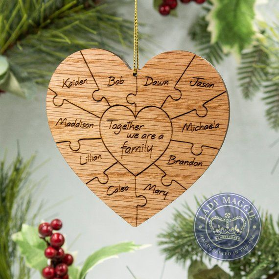 Birthday Gifts Personalised Keepsake Wooden Name Ornament Heart With Stand