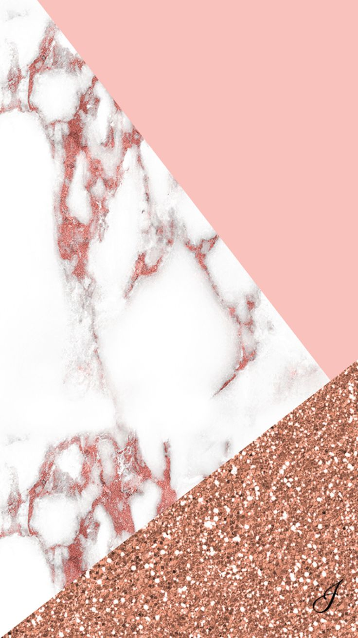 iPhone Wallpaper - Pink Marble, Pink and Glitter