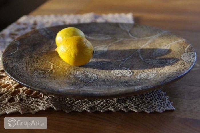 Grupart.pl - Patera ceramiczna liście - Wnętrze - Ceramika
