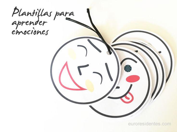Imprimible para aprender emociones, preescolar. Free Printable learning emotions preschool