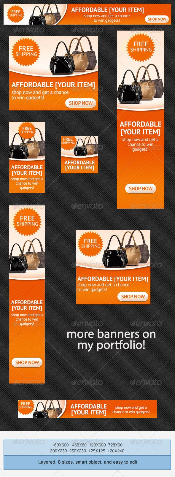 Online Shopping PSD Banner Ad Template