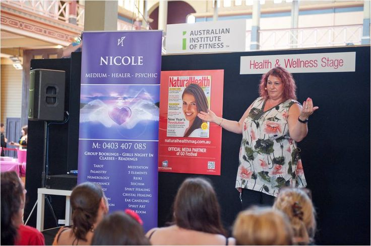 Medium Nicole McHenry! See her in the main stage in October - be early spots fill fast! #gofestival #Melbourne Showgrounds #womensexpo