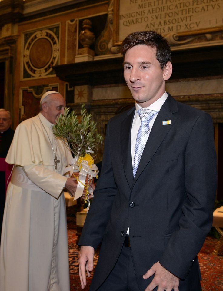 Lionel Messi Photos: Pope Francis I Meets Italy and Argentina Football Teams