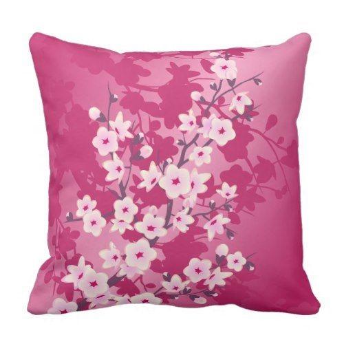I love pink accent pillows.  They are adorable, cute and very trendy.  Great for a living room, bedroom, study or even a girl's room. You can find all types of pink throw pillows  from pink floral throw pillows to sparkly glitter throw pillows. Additionally, you can also find beautiful  patterned pink throw pillows. #pink #pinkhomedecor      Cherry Blossoms Pink Berry Floral Throw Pillow