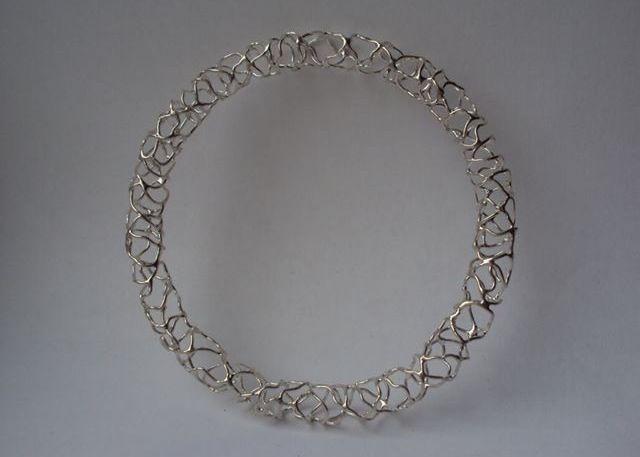 Fragile collection  Silver bangle