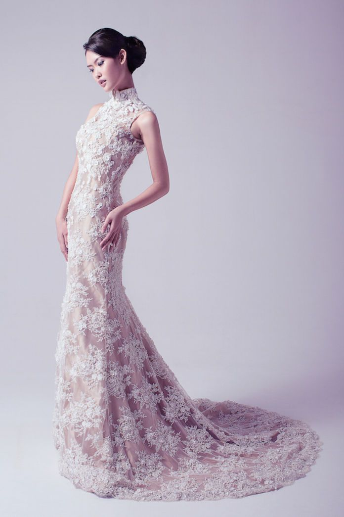 Cheongsam wedding dress ideas | Our Wedding Gown Collection by The Dresscodes Bridal | http://www.bridestory.com/thedresscodescom/projects/our-wedding-gown-collection