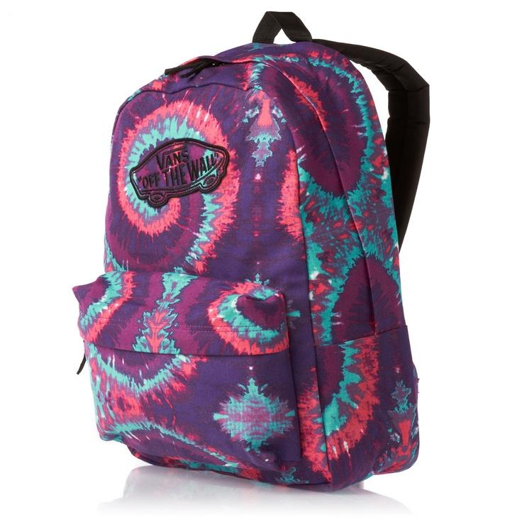 Vans Realm Backpack - (Tie Dye) Pink/Purple | Free UK Delivery
