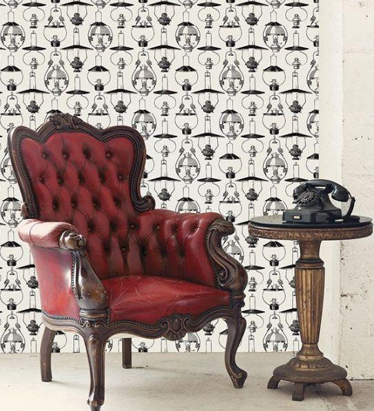 Papel pintado de lamparas vintage  disponible en : www.empapelandoonline.com  #papelpintado #empapelandoonline #decoracion #decoraciondeinteriores #interiores #diseñodeinteriores #interiorismo #arquitectura #pared #murales #comprar #home #deco