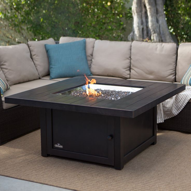 Have to have it. Napoleon Square Propane Fire Pit Table - $ @hayneedle.com