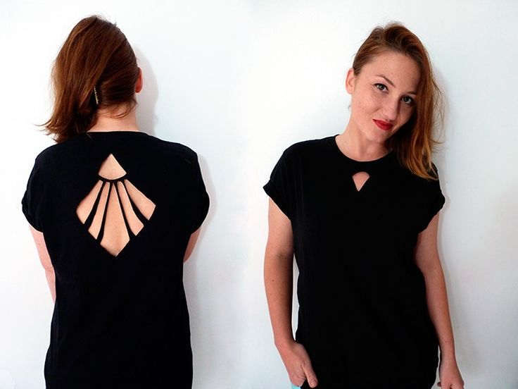 Cut t shirt in pattern