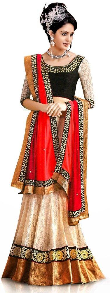 Panchi Womens #Embroidered Lehenga, #Choli and Dupatta Set online - Looksgud.in #lehenga choli