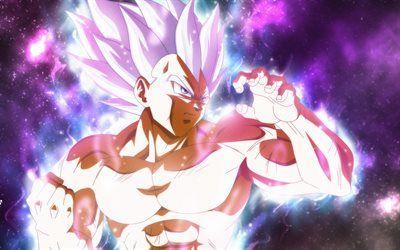 Télécharger fonds d'écran 4k, Ultra Instinct de Goku, galaxy, Dragon Ball, Migatte Pas Gokui ...