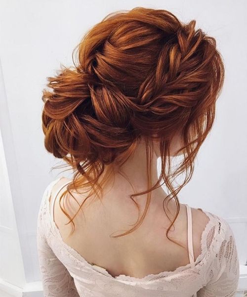 Spectacular Wedding Updo Hairstyles 2019 With Braided Crown Hair