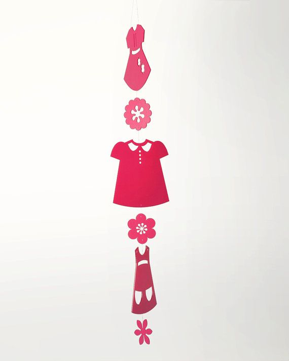 Paper Doll Dress Mobile by daswooddesign on Etsy, $110.00