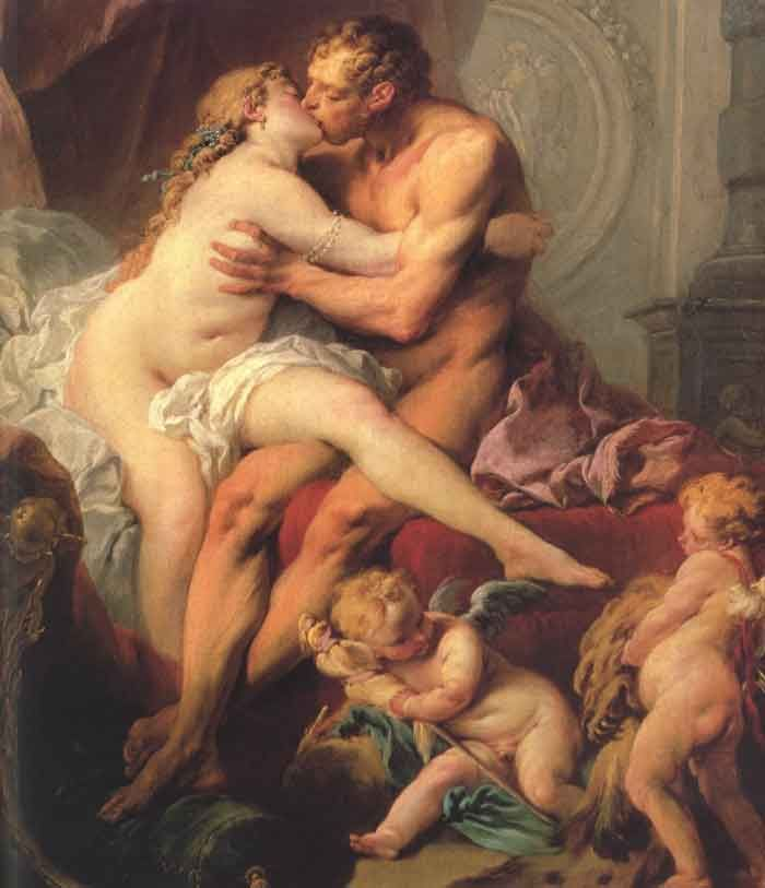"""""""Hercules and Omphale"""" by Boucher."""