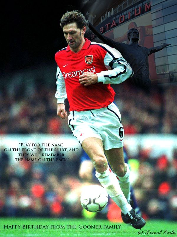 @ArsenalRealm  One of finest player to wear an #arsenal shirt...Happy Birthday Tony Adams #afc #fanart