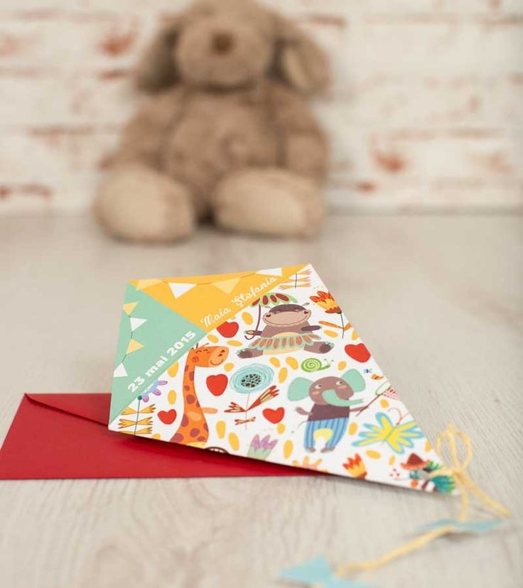 Invitatie de botez - Colorful Kite