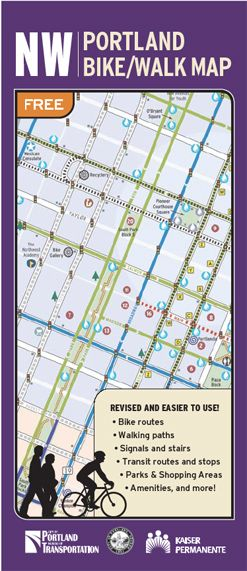 Northwest + Downtown Portland Bike, Walk Map | Bike + Walk Maps | The City of Portland, Oregon