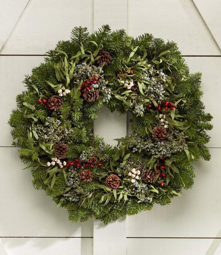 Woodland Eucalyptus Wreath 24 Christmas Wreaths Outdoor Christmas Tree Decorations Christmas Wreaths Diy Easy