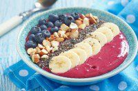 Breakfast berry smoothie bowl