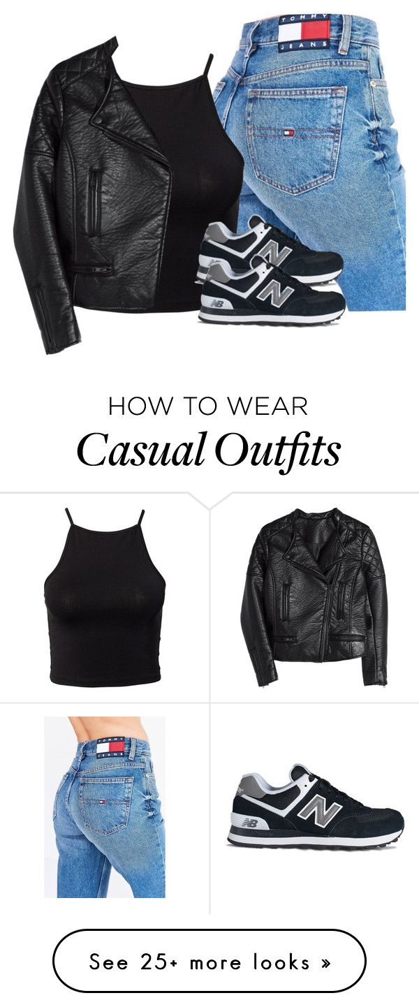 """""""New Balance: casual but classy style"""" by youngsmile on Polyvore featuring Tommy Hilfiger, NLY Trend, New Balance and H&M"""