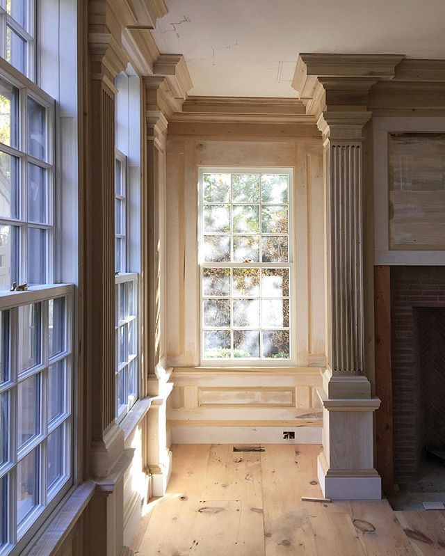 The art studio nearing completion at Little Glover in Sag Harbor. Soon to be limewashed in the palest grey.