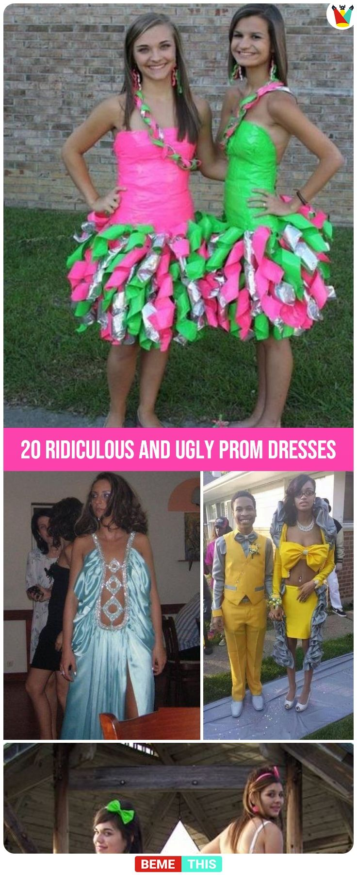 most ridiculous and ugly prom dresses of all time um