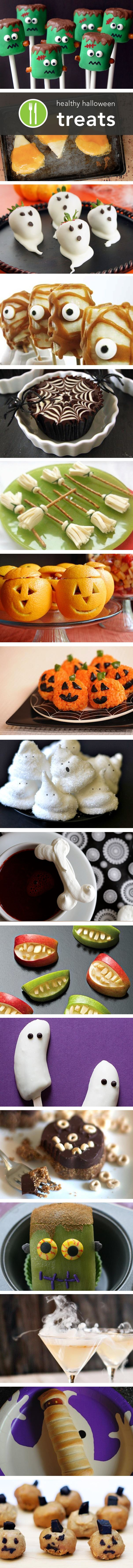 More healthy Halloween treat ideas, so cute the kids will never even know it is good for them